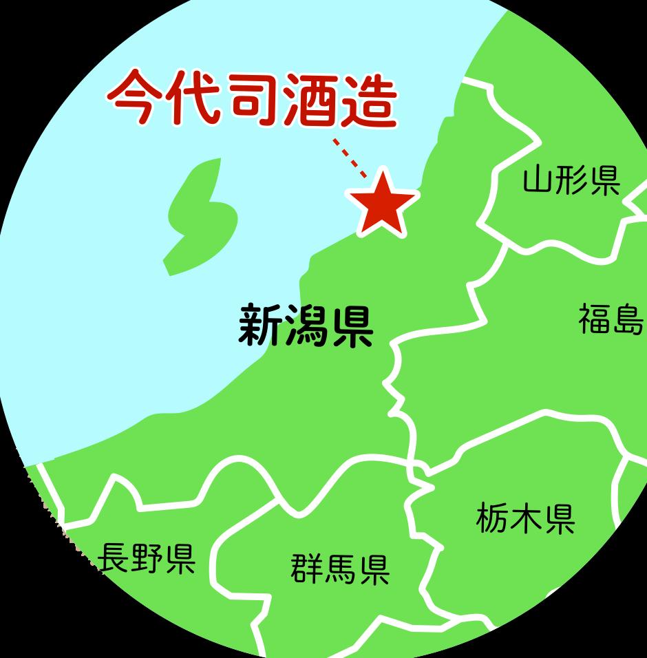 地図 今代司酒造 イメージ
