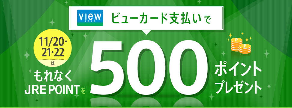 ビューカード会員限定!500ポイントボーナスキャンペーン