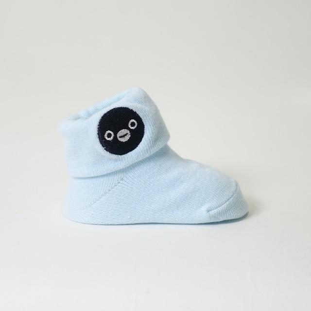 Suicaのペンギン 折り返しベビーソックス(水色)