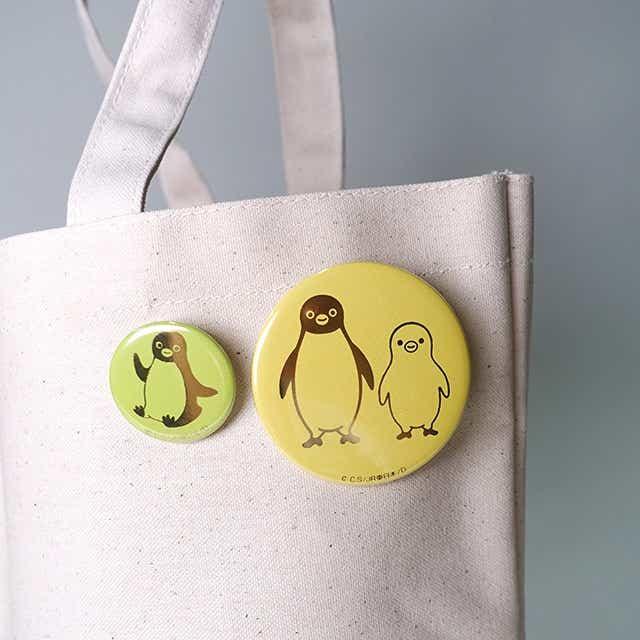 Suica のペンギン 箔缶バッジ ゴールド