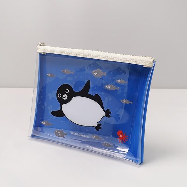 Suicaのペンギン クリアポーチ(ブルー)