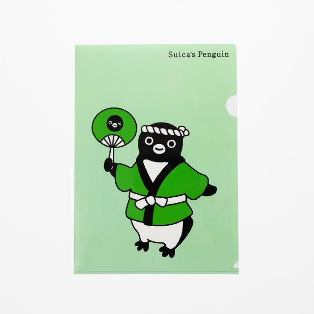 Suicaのペンギン クリアファイルセット(スイム・祭り)A4サイズ