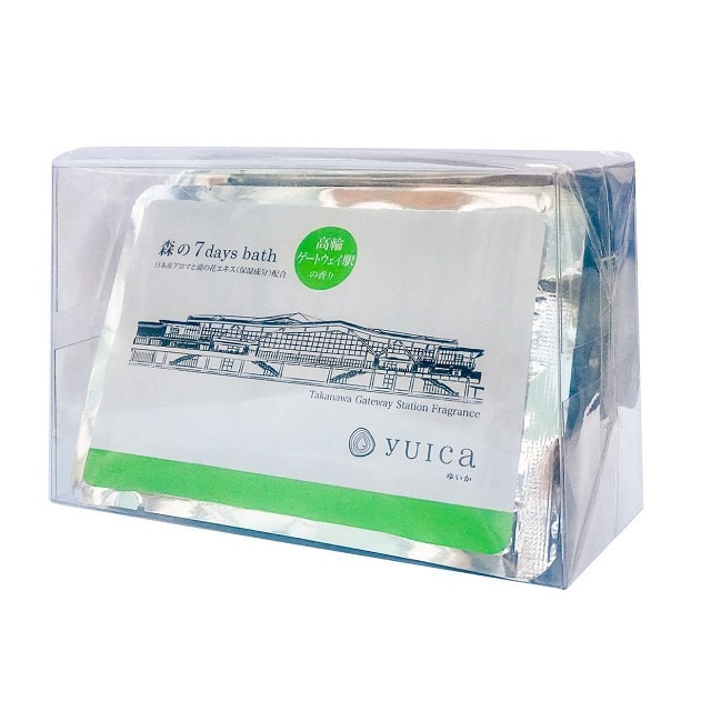 yuica森の7 days bath(60g)「高輪ゲートウェイ駅の香り」7個セット