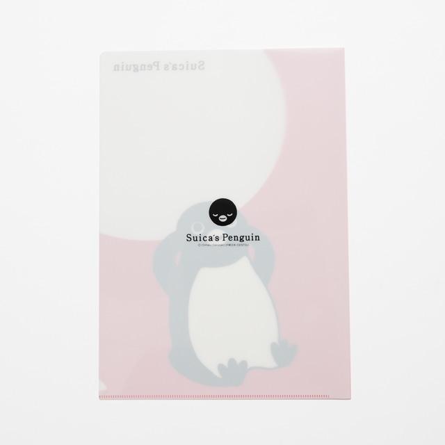 Suicaのペンギン クリアファイルセット(考える・頬付え)A4サイズ