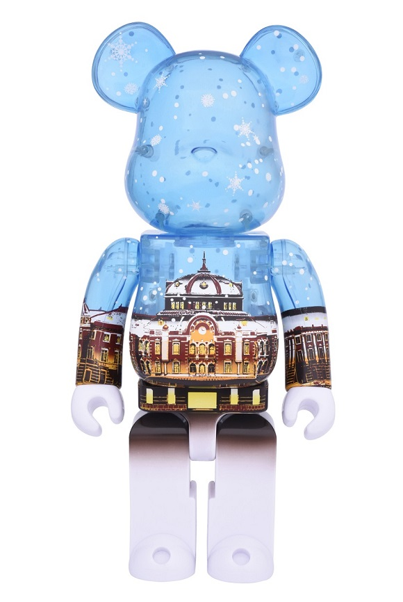 BE@RBRICK(ベアブリック) 東京駅丸の内駅舎モデル Snow Ver.400%