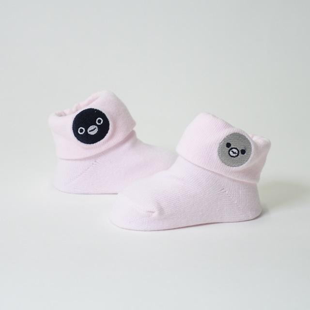 Suicaのペンギン 折り返しベビーソックス(ピンク)