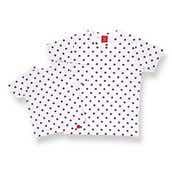 Suicaのペンギン Tシャツ ドット/シロ/4A