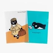 Suicaのペンギンクリアファイルセット(読書・旅人)A4サイズ