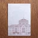 【TA】クリアファイル 東京駅丸の内駅舎 A4ブルー