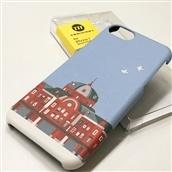 【TA】iPhone7ケース東京駅丸の内駅舎 BLUE