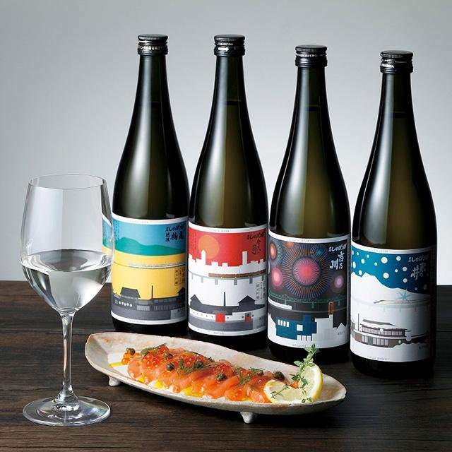 【酒類】2018年度米使用 新潟しゅぽっぽ720ml 4種セット 送料込