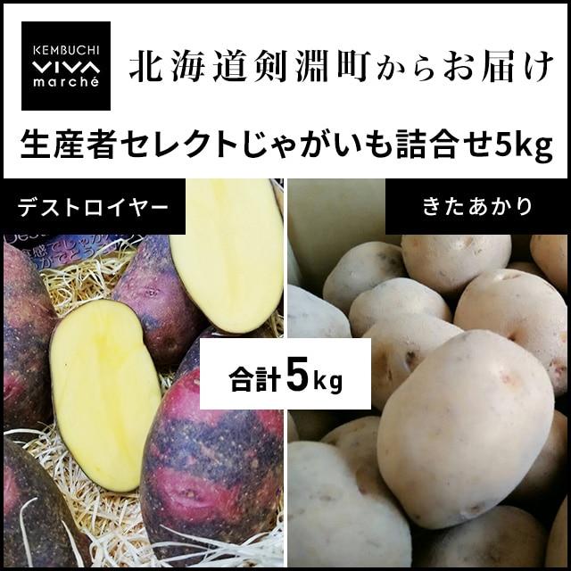 【販売中止】\お取り寄せきっぷ限定/VIVAマルシェ 北海道剣淵産じゃがいも詰合せ2種5kg 送料込