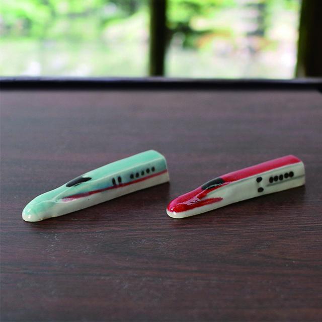 【栃木アフターDC】こうじんや E5系・E6系益子焼箸置きセット