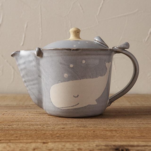 笠間焼 itoga pottery ポット(くじら)<常磐>