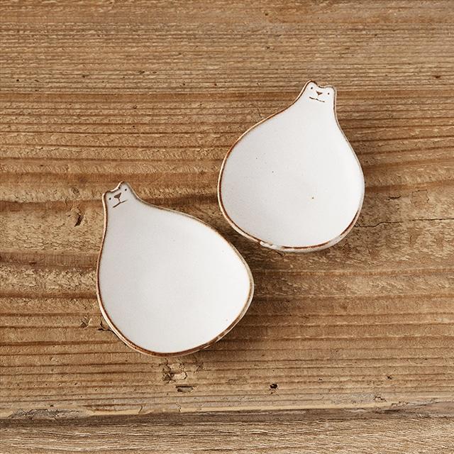 笠間焼itoga pottery豆皿(しろくま)2枚組<常磐>
