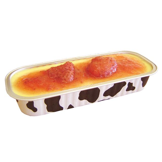 <山形産直市2019>とろけるチーズブリュレプレーン・苺セット 送料込
