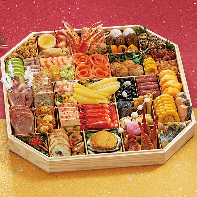 <2020おせち>【Web購入特典/5%OFF/12月29日お届け】ふく吉和洋中おせち料理「慶びの宴」一段重 送料込