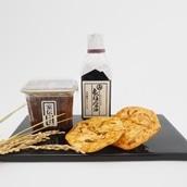 【2020おみやげGP】<秋田県>安藤醸造ねぎ味噌煎餅 5枚入袋 送料無料