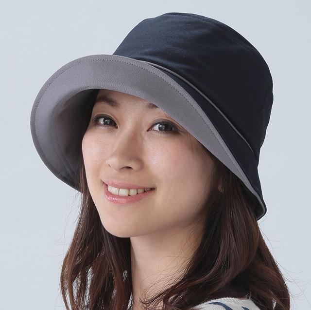 国産 倉敷帆布のおでかけ帽子 ネイビー