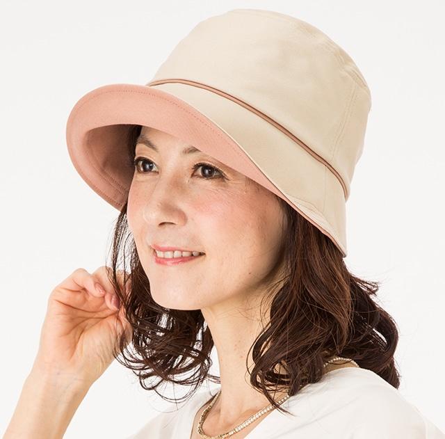 国産 倉敷帆布のおでかけ帽子 ベージュ