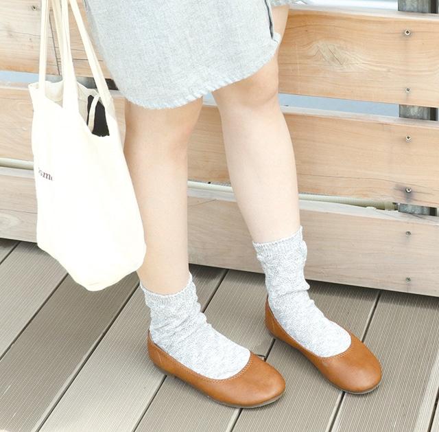 2足重ね履き靴下 綿麻フラブ 銀色