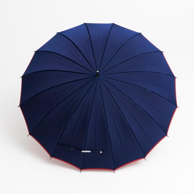 日本橋小宮商店 かさね 長傘 55×16 ネイビーレッド