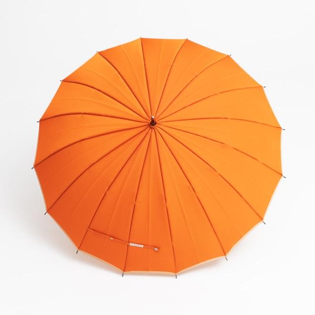 日本橋小宮商店 かさね 長傘 55×16 オレンジベージュ