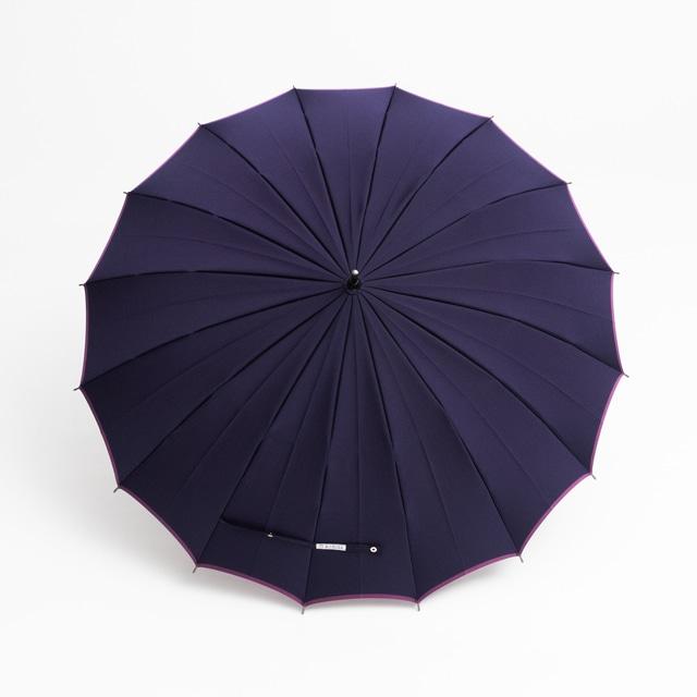 日本橋小宮商店 かさね 長傘 55×16 ネイビーパープル