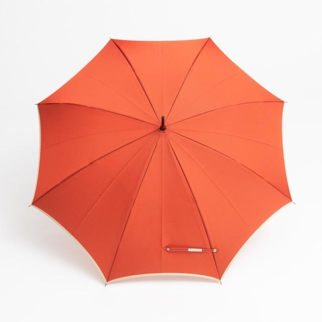 日本橋小宮商店 かさね 長傘 60×8 コーラルレッドアイボリー
