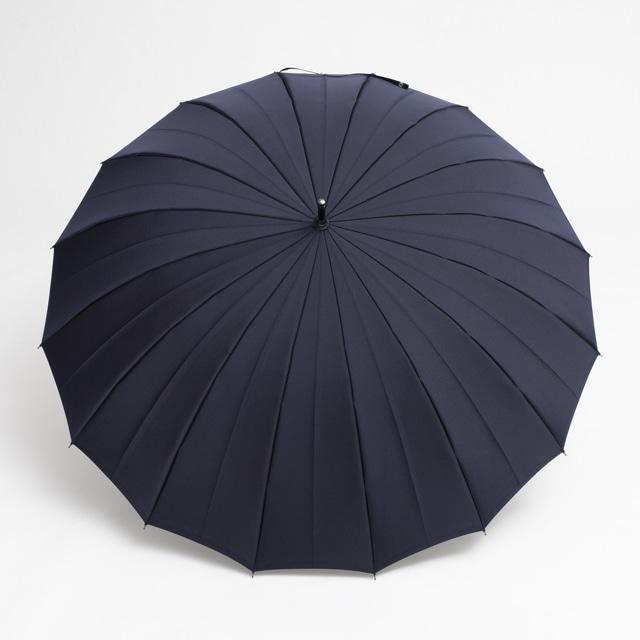 日本橋小宮商店 裏縞文様 甲州織 長傘 65×16 ネイビー
