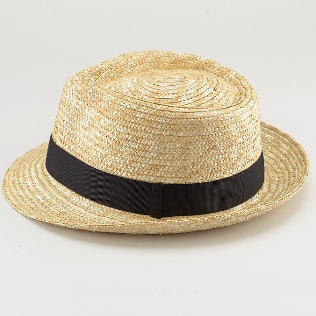 田中帽子ノア太麦中折れ帽子ナチュラルL