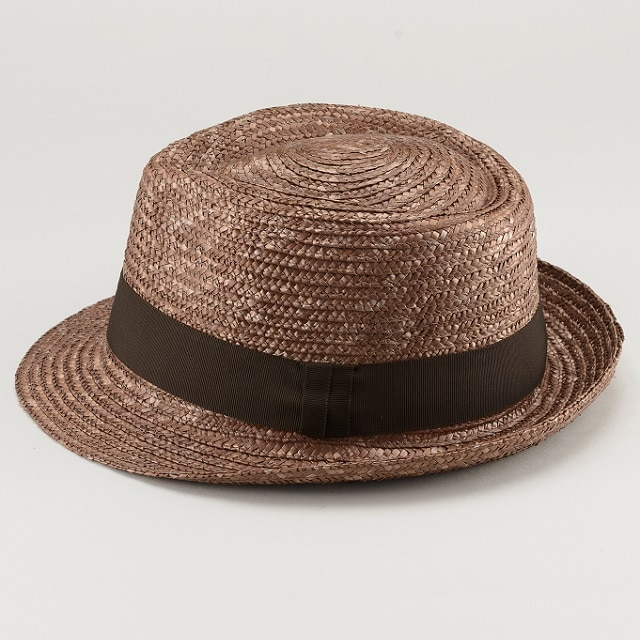 田中帽子ノア太麦中折れ帽子ブラウンM