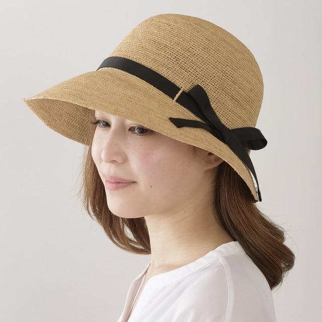 田中帽子 クロエ ラフィア 女優帽 58cmナチュラル