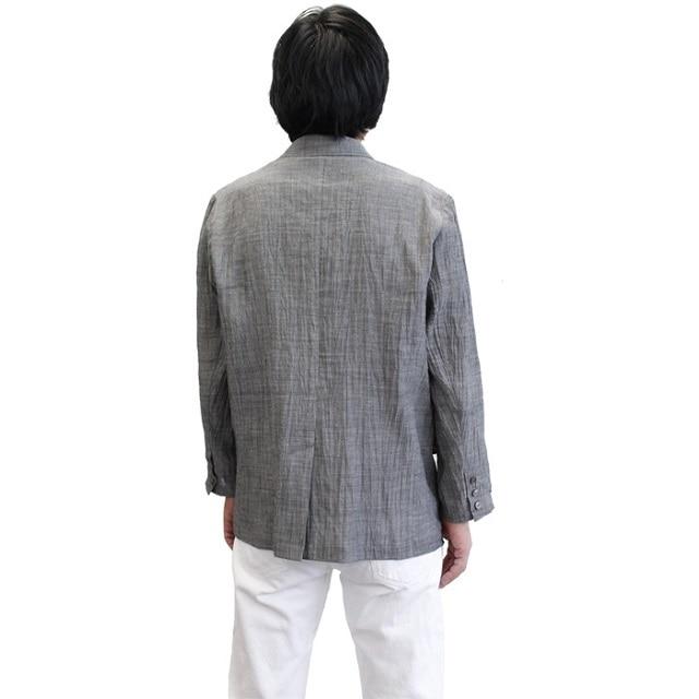 IONO 小千谷縮 メンズジャケット 墨鼠 M
