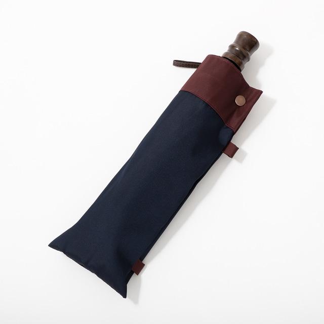 日本橋小宮商店 「橘」 甲州織 折傘 60×10 ネイビーレッド