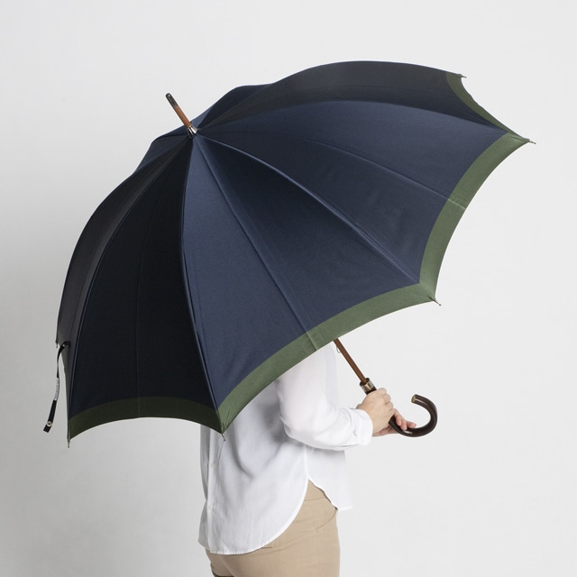 日本橋小宮商店 「橘」 甲州織 長傘 65×8 ネイビーグリーン