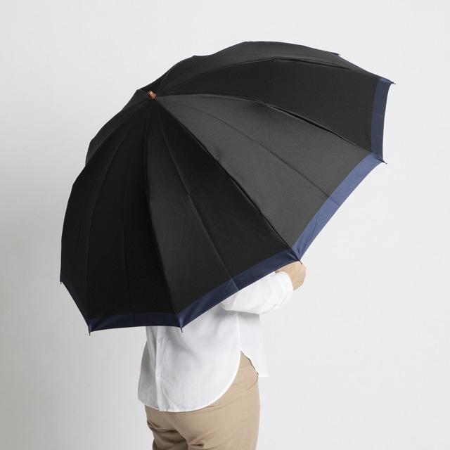 日本橋小宮商店 「橘」 甲州織 折傘 60×10 ブラックブルー
