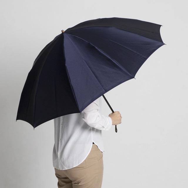 日本橋小宮商店 裏縞文様 甲州織 折傘 60×10 ネイビー