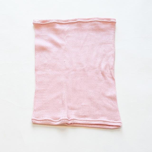 シルクリブ腹巻 桜色