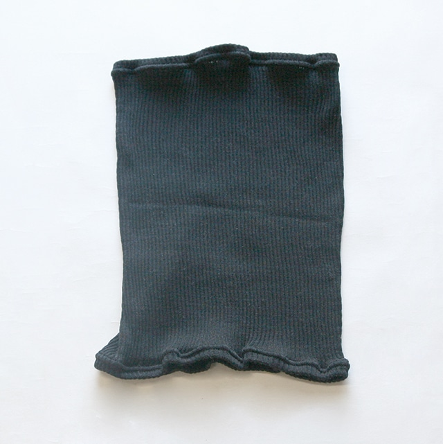 シルクリブ腹巻 鉄黒