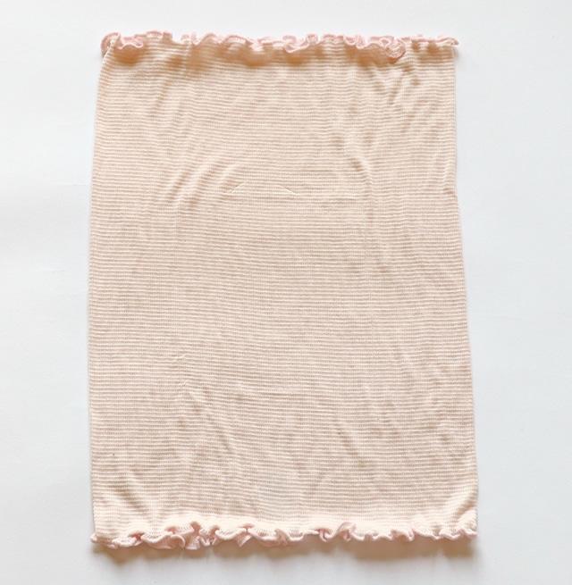 のびのびシルク腹巻 桜色
