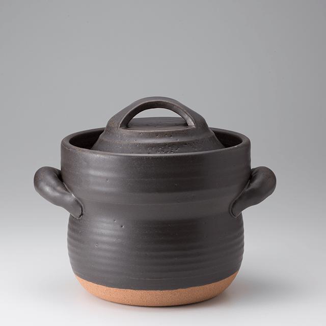 笠間焼なかむら陶房直火専用炊飯用耐熱土鍋(三合)
