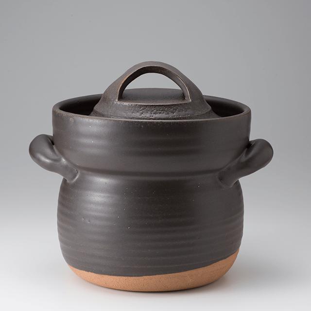 笠間焼なかむら陶房直火専用炊飯用耐熱土鍋(五合)