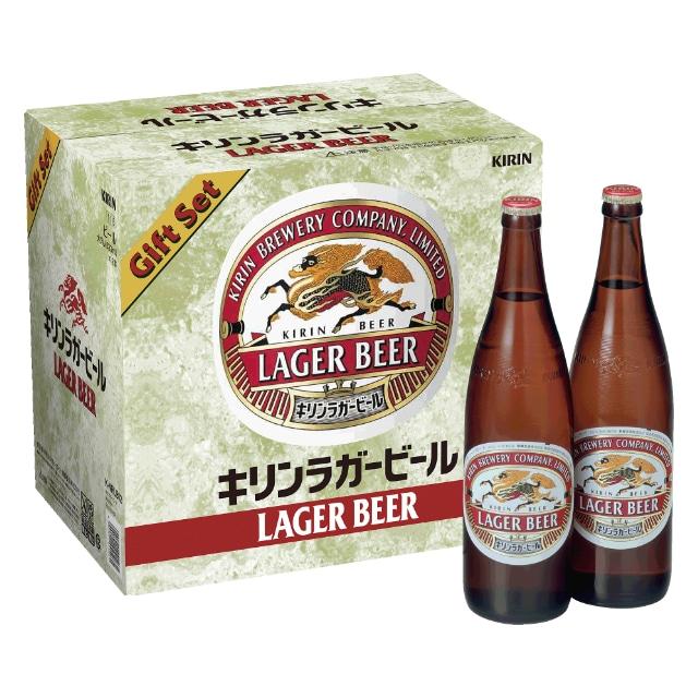 【大人の休日倶楽部会員限定 特別価格】キリンラガービール大びんセット