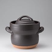 笠間焼なかむら陶房直火専用炊飯用耐熱土鍋(二合)