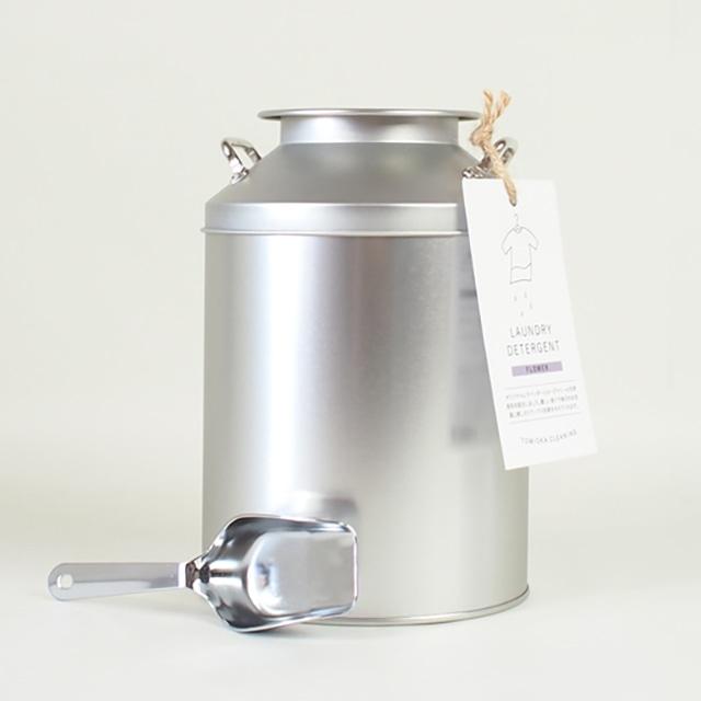 とみおかクリーニングオリジナル洗濯洗剤フラワー ミルク缶入り
