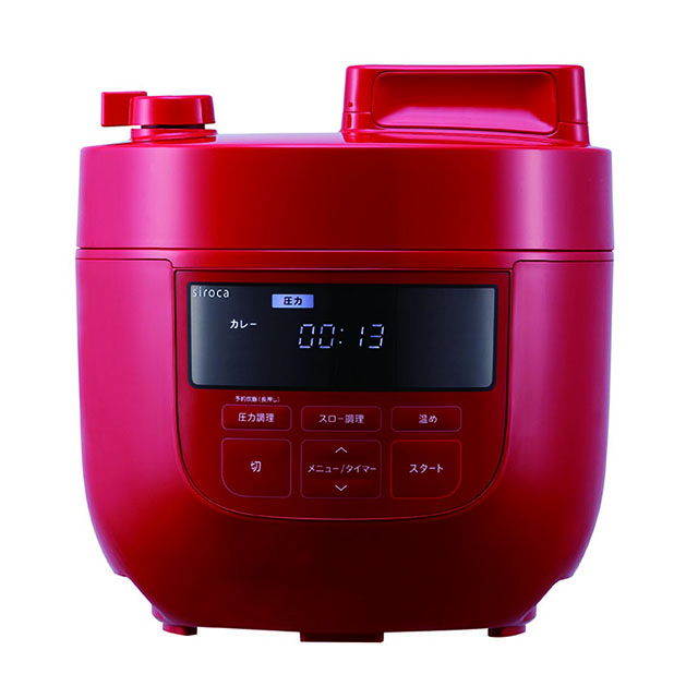 siroca 4L電気圧力鍋 レッド