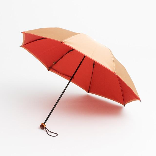 日本橋小宮商店 かさね 折傘 50×8 ベージュピンク
