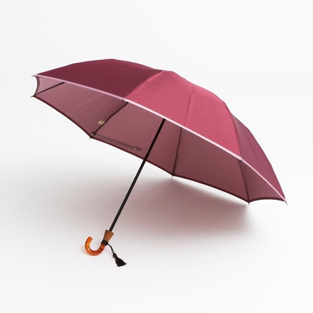 日本橋小宮商店 かさね 折傘 55×8 ワイン紅藤ピンク