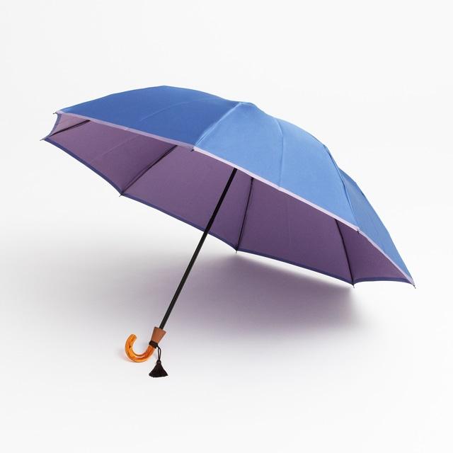日本橋小宮商店 かさね 折傘 55×8 セルリアンラベンダー